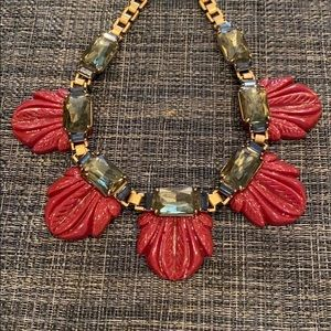 Gold and Maroon Necklace